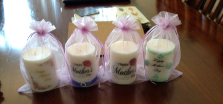 Mother's Day candles made at home, so easy.