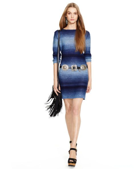 Ombré Sweater Dress - Polo Ralph Lauren Short Dresses - RalphLauren.com