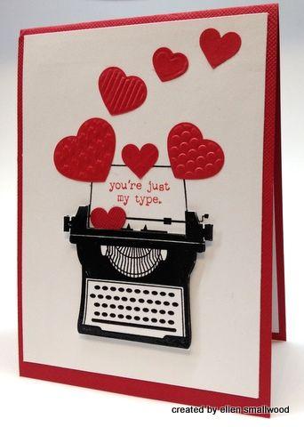 super cuteValentine'S Day, Typewriters Stamps, Mary Fish, Cards Ideas, Valentine Day Cards, Valentine Cards, Stamps Sets, Typewriters Cards, Heart Cards