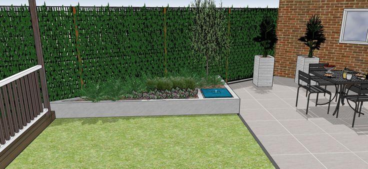 Meer dan 1000 afbeeldingen over diagonale tuin diagonal for Tuinontwerp schuine lijnen