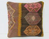 kilim pillow knitting floor pillow case turkish pillow case kilim pillow sets handmade pillow case colorful throw pillow floor pillow 26649