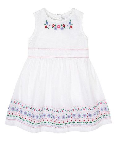 Love this White Embroidered Dress - Infant, Toddler & Girls on #zulily! #zulilyfinds