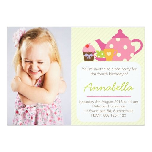 452 best Tea Party Birthday Invitations images on Pinterest ...