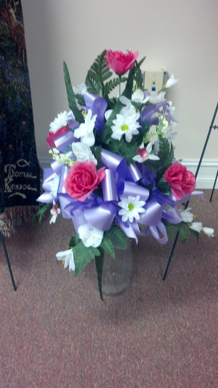 15 best memorial cemetery arrangements images on pinterest pink white lavender cemetery vase reviewsmspy