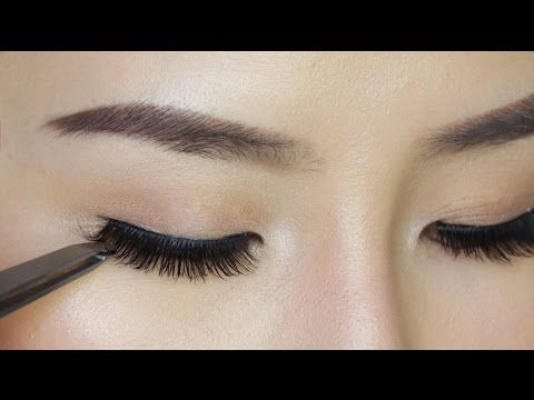 YouTube how to apply false eyelashes for beginners. Her technique is great.