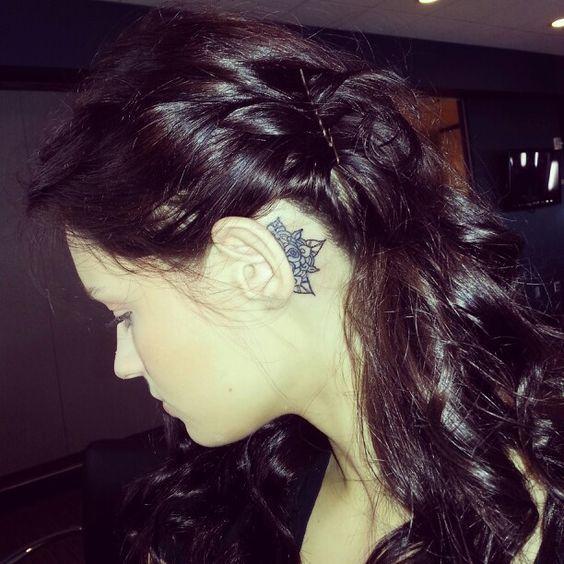 mandala ear tattoo