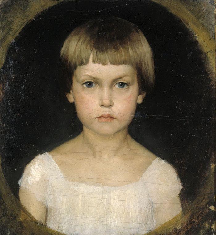 ALBERT EDELFELT  Portrait of the Artist's Sister Berta Edelfelt (1876)