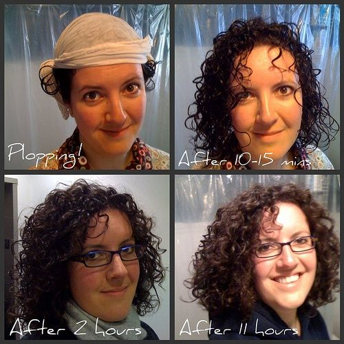 3b Curls - plopping- swear by this method of doing curly hair!!! best trick ever