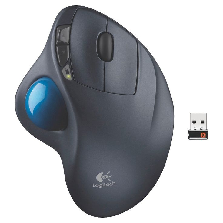 Logitech M570 Wireless Trackball Mouse - Gray (910-003283)