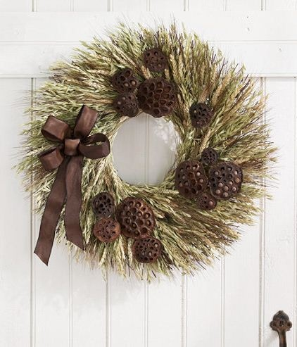 L.L.Bean Fall Wheat Wreath: Free shipping at L.L.Bean
