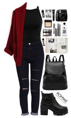 """""""Romwe 5"""" by scarlett-morwenna ❤ liked on Polyvore featuring Miss Selfridge, Aquaovo, Aesop, Bobbi Brown Cosmetics, NARS Cosmetics and MAKE UP FOR EVER"""