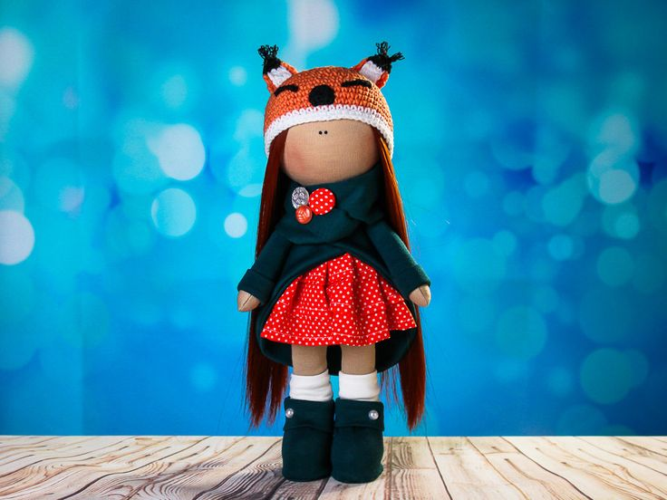 Doll tilda. Doll Ulyana. Сollection Fairy doll. Textile doll.  Cute gift. Interior doll. Rag doll.  Soft toy. Handmade doll. Doll fox by OwlsUa on Etsy