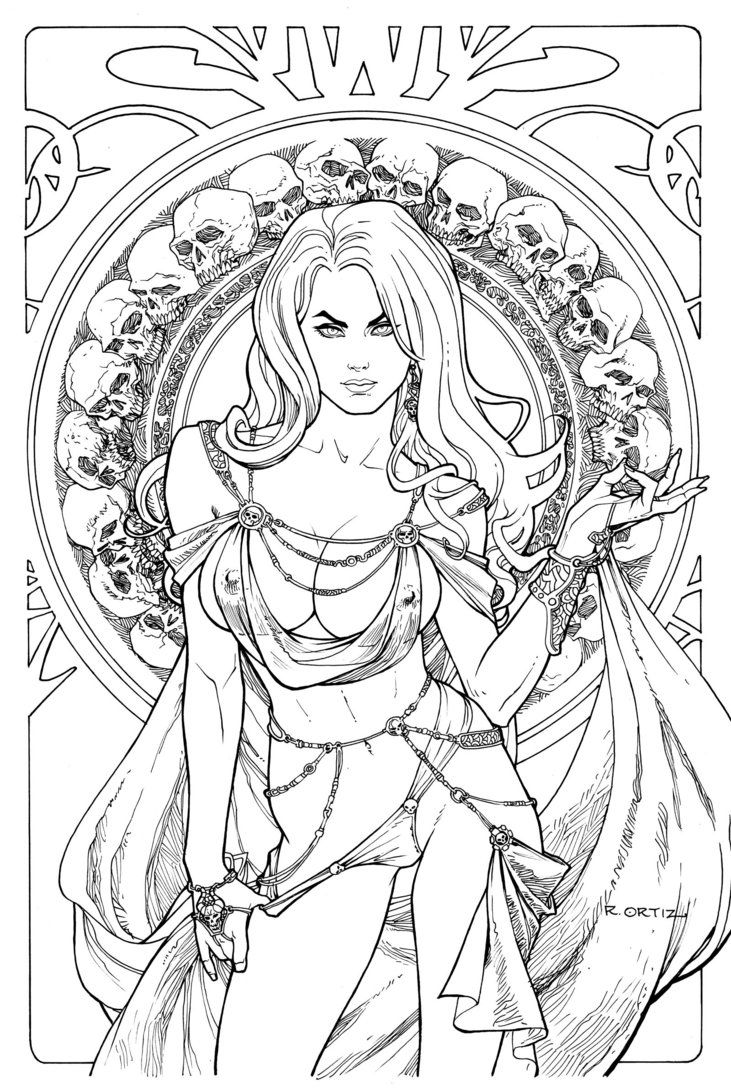 At long last come lines for the third part of Hel tribute - Goddess. There she rules the underworld upon ashes of Yggdrasill, guarded by Fire and Ice. please enjoy Links to Battlemaid and Sorceress...