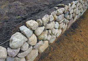 Bauen einer Trockenmauer
