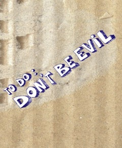 """""""Don't Be Evil"""" brings food for thought. The title stands for honest decision-making coupled with a constant focus on long-term objectives and the abandonment of opportunistic short-term thinking. As such the Don't Be Evil imperative may mean a great deal for your economic activities and the way that you deal with employees, customers and partners. The book is a source from which to draw the inspiration necessary to counter the effects of the crisis and to move towards a prosperous future."""