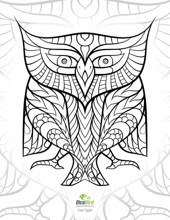 88 best animal coloring images on pinterest | coloring, coloring ... - Animal Mandala Coloring Pages Owl