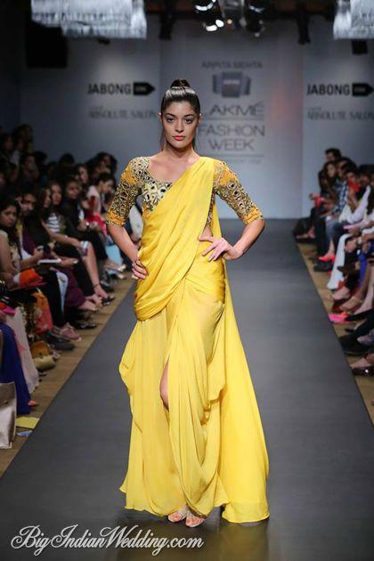 Arpita Mehta at Lakme Fashion Week Summer/Resort 2014 #saree #sari #blouse #indian #outfit  #shaadi #bridal #fashion #style #desi #designer #wedding #gorgeous #beautiful