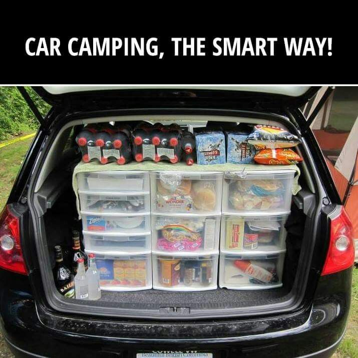 Great idea for storing food when camping