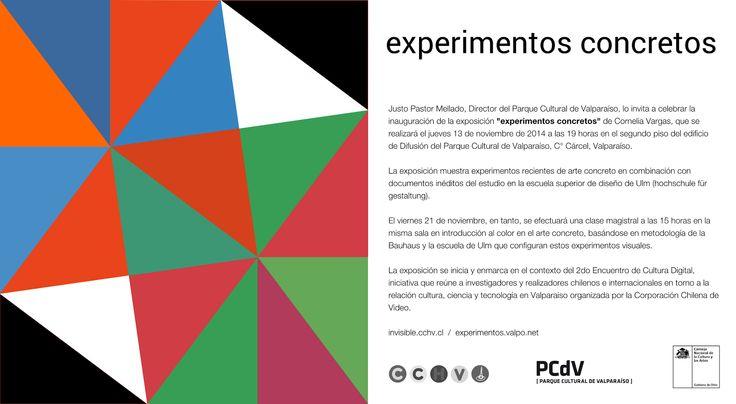 13/11 19 hrs Inauguración #expo Experimentos Concretos en @PCdVoficial #Valparaiso