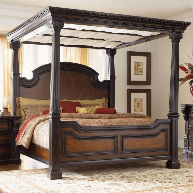 nice Queen Size Canopy Bed Frame