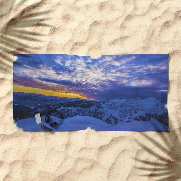 Warm Streak 2 Beach Towel by Mixed Imagery | Society6