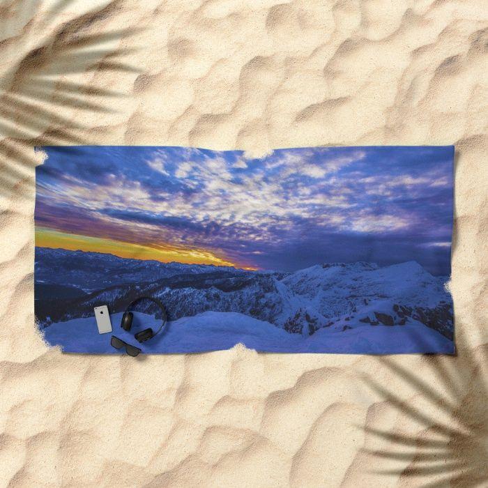Warm Streak 2 Beach Towel by Mixed Imagery | Society6