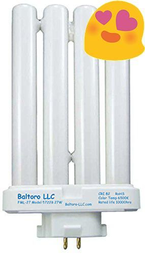 #onsale  27W Baltoro #Linear Quad Replacement Bulb T4 4-Pin (GX10q-4) #Base FML 6,500K Double Tube Compact Fluorescent bulb for use in desk or floor lamps 1147tr ...