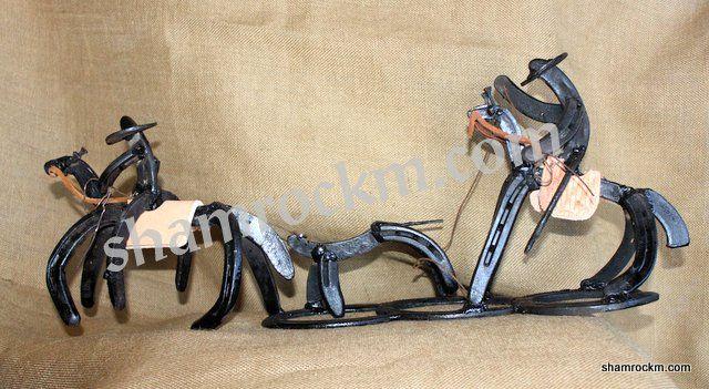 Horse Shoe Art Team Roper-horse shoe art