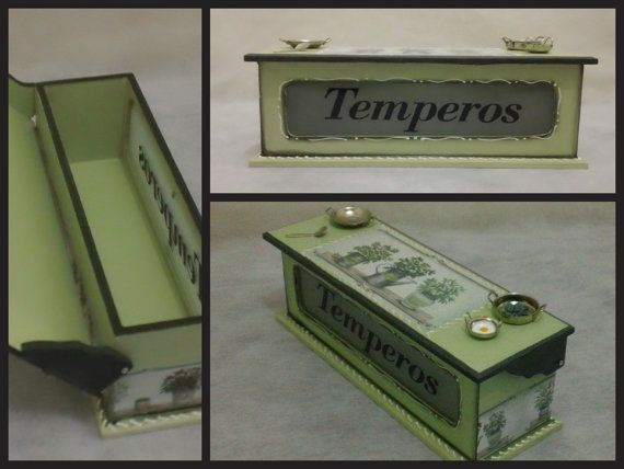 Storage for Seasoning and Spice Tins Decoupage by CLVLArtsBrazil