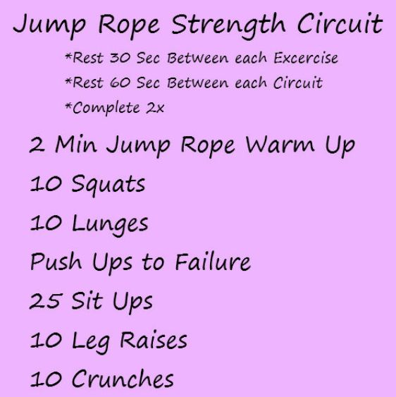 Jump rope strength circuit