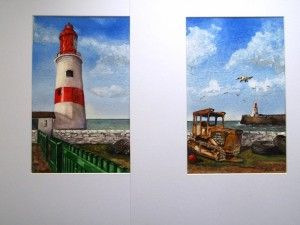"""""""Souter Lighthouse & The Old Tractor"""" by Graham Ibson"""
