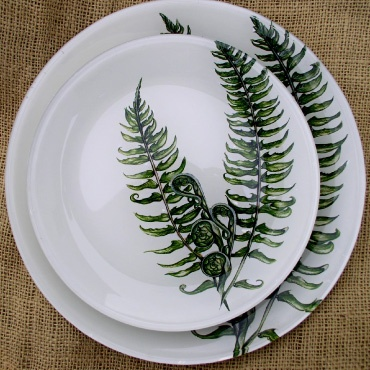 Fiddlehead Fern 8 Inch Glass Plate Decorating With Ferns
