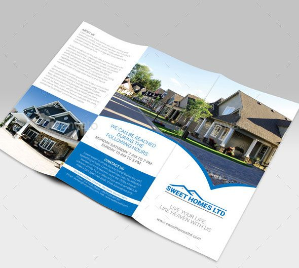 If You Own A Real Estate Business Then You Must Try This Trifold Brochure  Template.