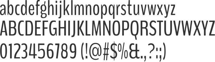 BenchNine Alphabet Specimen | sans Serif font | free | fontsquirrel