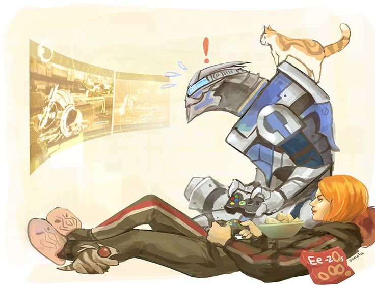 Garrus and Shep multiplayering   11in x 17in