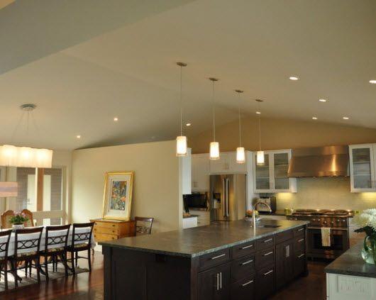 Iluminar y decorar una cocina con isla y comedor - Articulos iluminacion ...