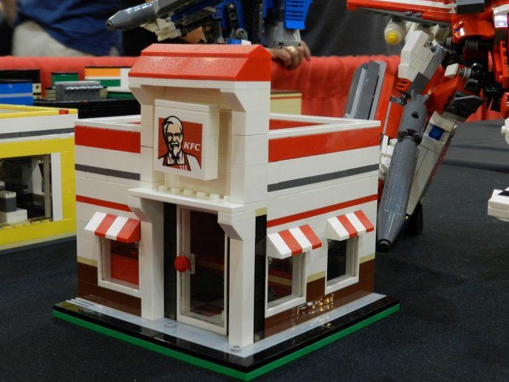 KFC Restaurant in LEGO   Lego Food   Lego, Lego food, Lego ...