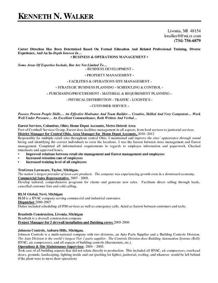 Commercial Operations Manager Sample Resume Commercial Sales
