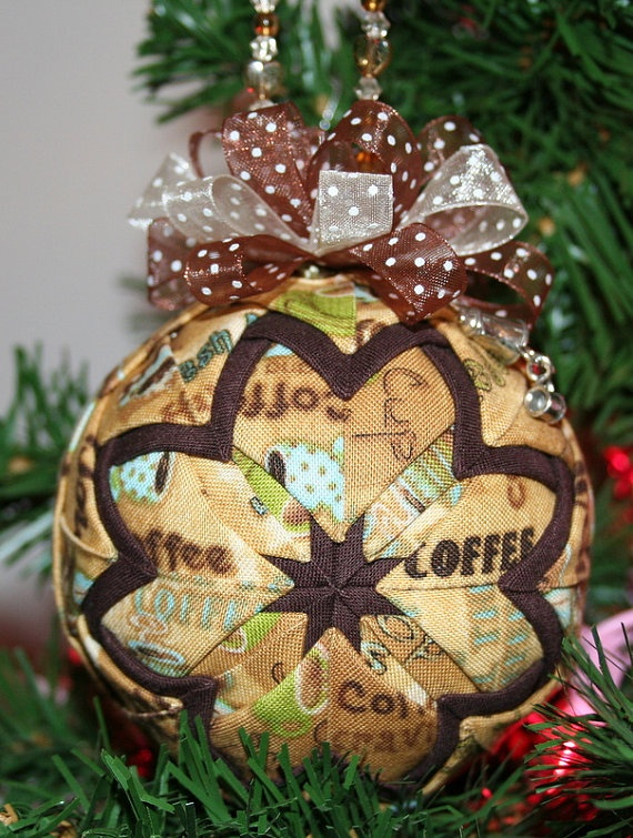 Quilted Ornaments Quilt Ball Ornaments Debbie Mumm by unclebuyme, $22.00