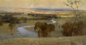 Still glides the stream, and shall for ever glide - Arthur Streeton