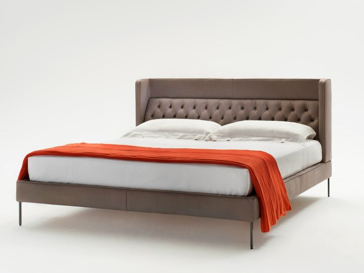 Bed with tufted headboard Lipp Collection by Living Divani | design Piero Lissoni