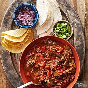Beef Tinga Serve up your beef tinga with a platter full of tortillas and toppings.