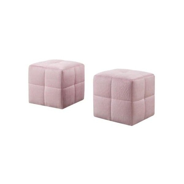 Monarch Specialties I 8165 Two Piece Polyester Ottoman Set Pink Indoor ($59) ❤ liked on Polyvore featuring home, furniture, indoor furniture, ottomans, pink, standard, monarch specialties furniture, polyester furniture, monarch specialties and poly furniture