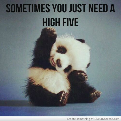 Today is National High Five Day on Thumbs Up Thursday! Give a friend, stranger, co-worker or a family member a high five today.
