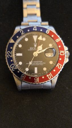 [1964 Rolex GMT Master] This is mine and I love the movement. I apologize for the suboptimal gif. I used an android app to make the gif and couldnt keep my recording hand very still. It really is a very handsome watch (at least to me) via /r/Watches