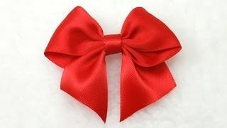 how to tie a bow out of ribbon - YouTube