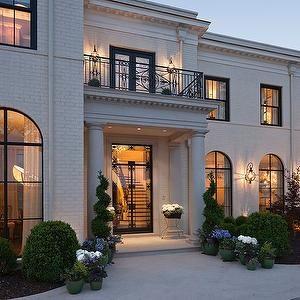 White Brick Home Exterior, Transitional, home exterior, Renaissance Homes