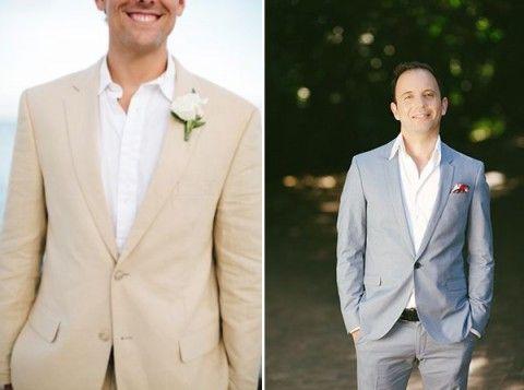 Steph - check out the very last pic! I love the black!!! 61 Stylish Beach Wedding Groom Attire Ideas | HappyWedd.com