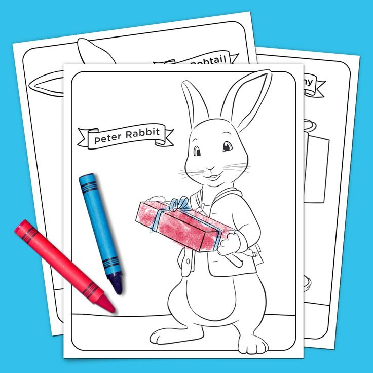 Peter Rabbit Holiday Coloring Pack Peter Rabbit Peter Rabbit Party Rabbit Colors