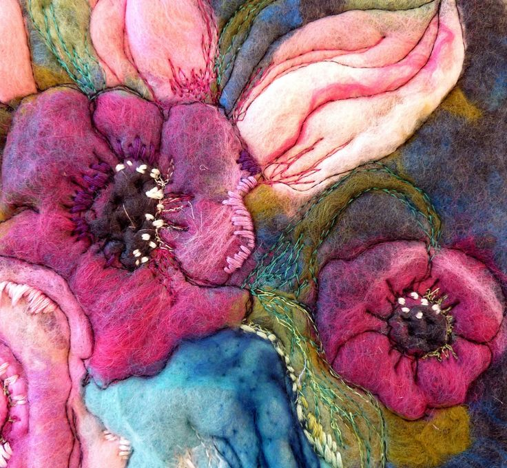 This is exactly what I'm thinking about - needle felting, stitch work, perhaps a base of wet felting?